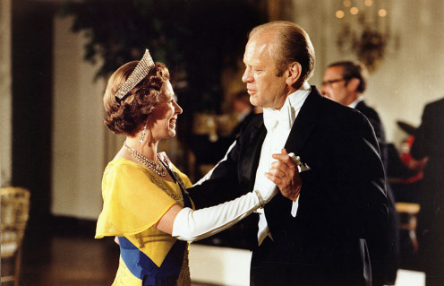 Queen Elizabeth II dancing with President Ford of the USA; Image by Ricardo Thomas; public domain