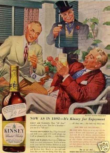 When alcohol was really a friend of America, it was always associated with successful folks.