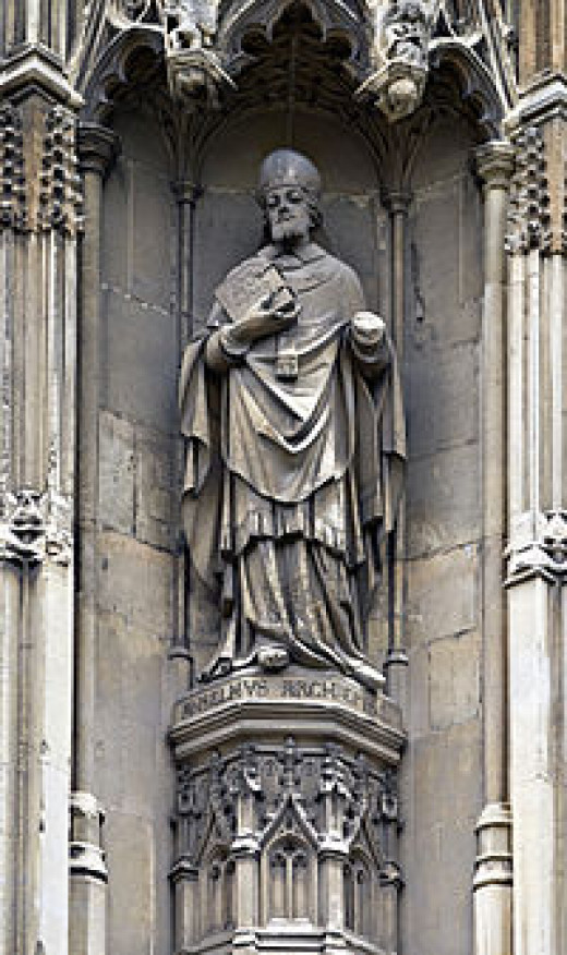 The Statue of Anslem at Canterbury Cathedral