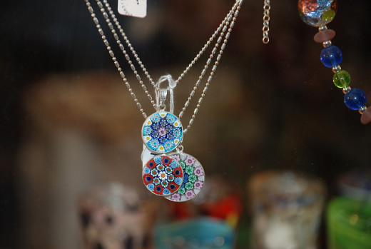 Venice glass pendants