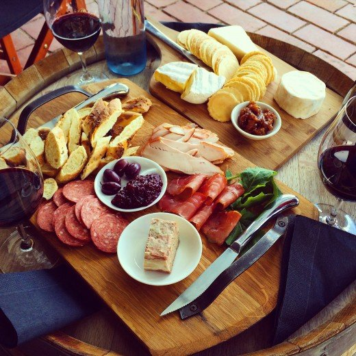 Platter at Kellermeister in Barossa Valley