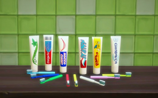 ...or some decorative toothpaste tubes?  All in Simlish, of course!