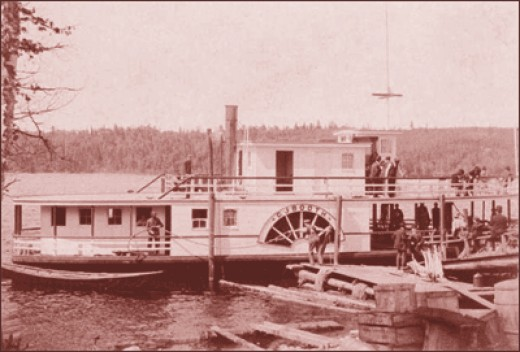 A boat on the St. John;s River in far Northern Maine