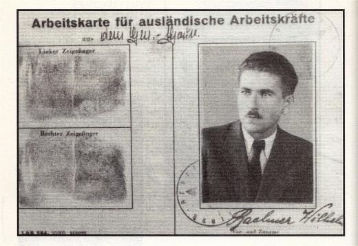 Work Permit for Wilhelm Bachner.