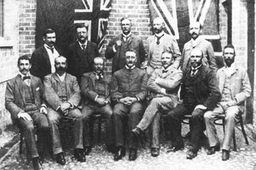 The directors of the De Beers Consolidated Mining Company, 1893 (Cecil John Rhodes on the middle/front)