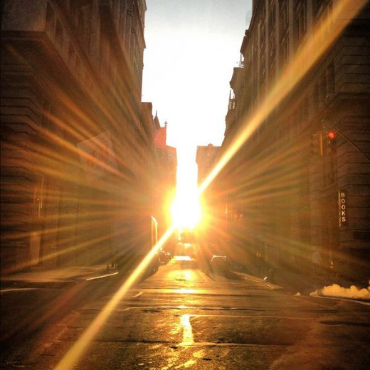 sunrise on second avenue in The Village