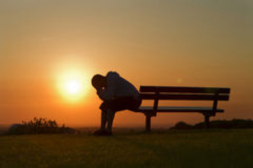 Sadness in the sunset