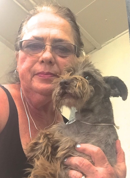 Sarge & Me - first selfie at the rescue, holding him for the first time.