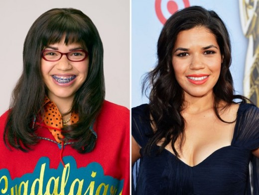 Before and after TRANSFORMATION of Betty from the TV Series Ugly betty