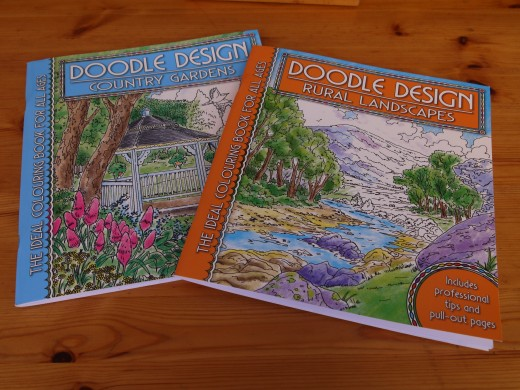 Doodle colouring books bought at my local market stall.