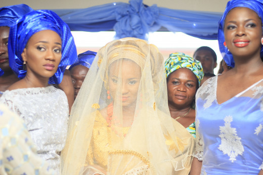 A Nigerian Yoruba veiled Bride Wedding