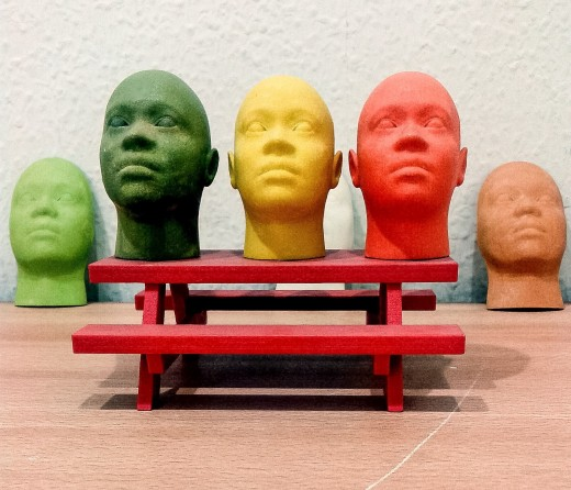3D printed heads (prototypes)