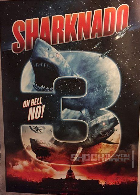 "Promotional poster for ""Sharknado 3: Oh Hell No!"""