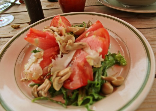 A salad that's more intricate than its simple presentation would indicate at Manitoba