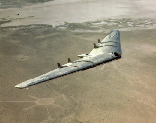 The XB-49, an unsuccessful flying wing design.