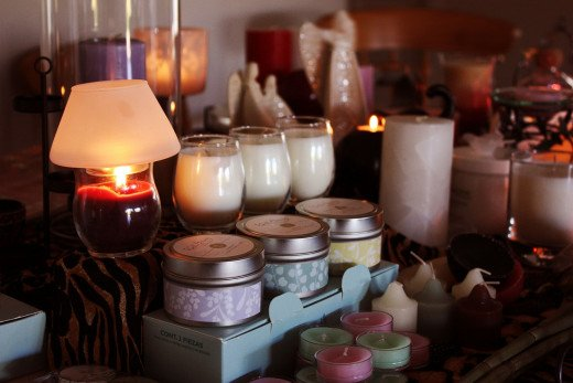 Decorative candles.