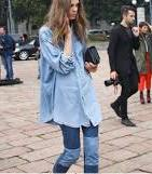 Loose fitting Shirt. Double denim done wrong.