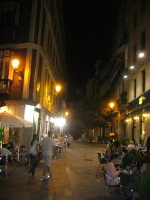 Madrid, Spain, at night