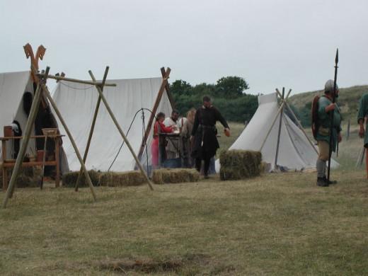 A Viking Camp Demonstration by Living History Reenactors
