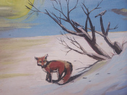 The red fox roamed the countryside without fear...