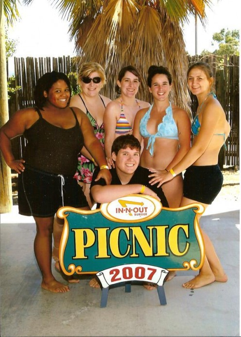 Myself (far left) and some fellow associates at an In-N-Out picnic in 2007.