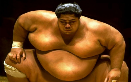 high bmi for sumo wrestler