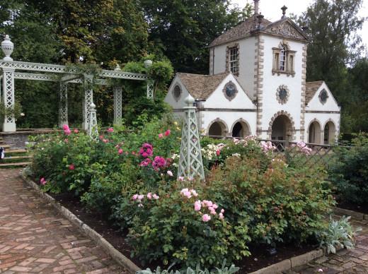 The Rose Garden at Bodnant Garden in early September, 2015