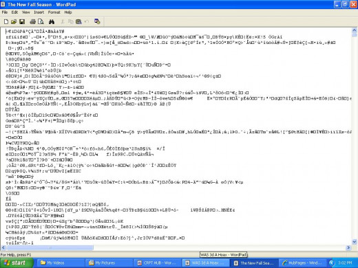 Encrypted article. Days worth of work ruined.