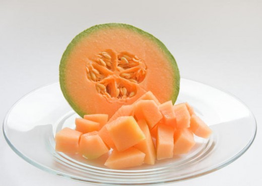 Cantalope Cut Into Cubes