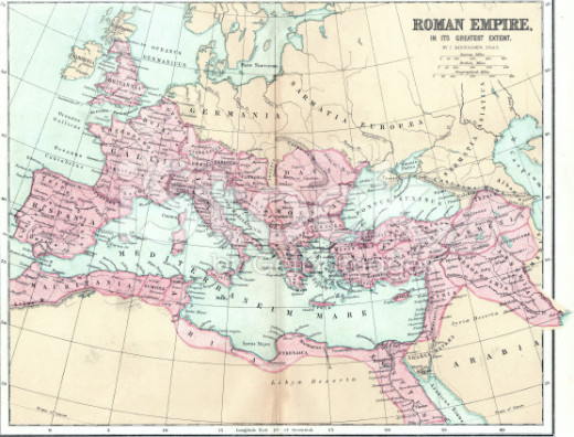 Rome became an empire, conquering her weaker neighbors, extending to the whole European continent.
