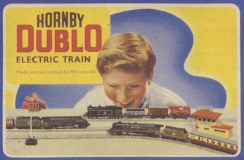 Most post-war generation kids I knew were given either Hornby Dublo or Triang Rovex OO/HO sets for Christmas. I was given a Rovex Goods Train set at Christmas, '55. The engine, a 'Jinty' in BR lined black, came with four wagons and short brake van