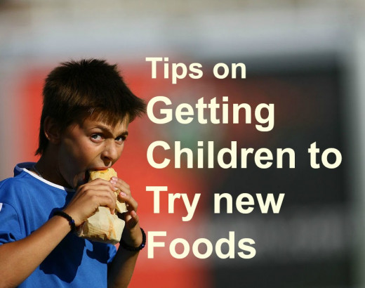 Tips on how to get children to try new foods, with examples of dishes that my children would eat at enjoy on a regular basis.
