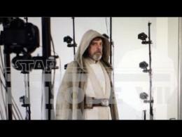 Luke Skywalker in Jedi robes from Force Awakens leaked picture