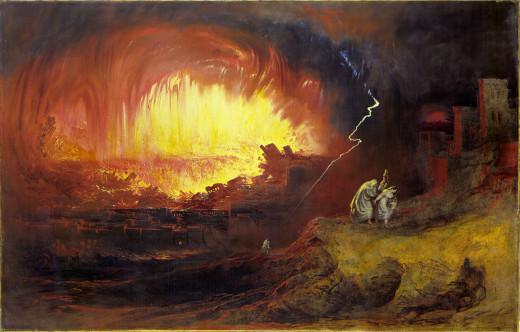 """The Destruction of Sodom and Gomorrah,"" John Martin, 1852."