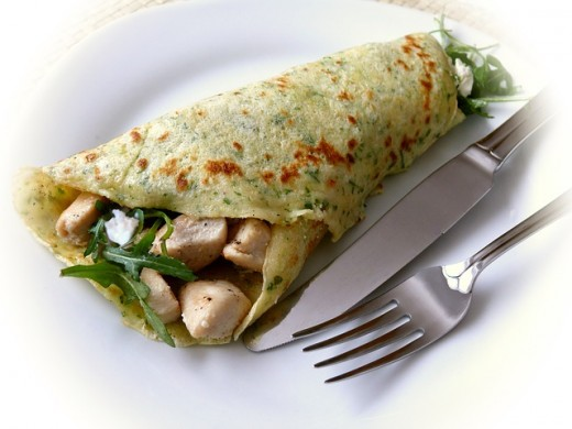 Meat pancake - you can roll, it up if you like.