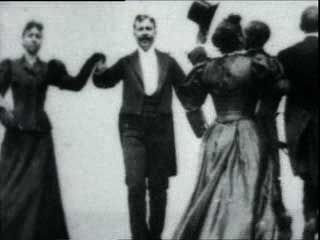 The cakewalk is the first American dance to be popular  with both black and white people.