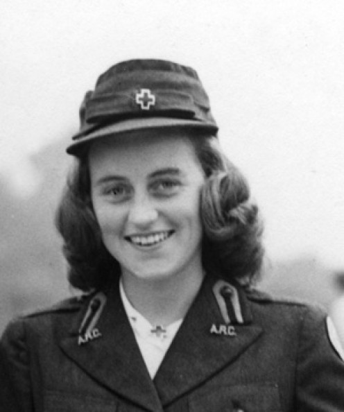 The Marchioness of Hartington (formerly Kathleen Kennedy) in London, wearing an American Red Cross uniform. Photograph in the John F. Kennedy Presidential Library and Museum, Boston http://www.jfklibrary.org/Asset-Viewer/2_EMsRKtaUe4N3hAs4p1DA.aspx