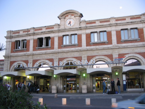 Perpignan Station (Pyrénées-Orientales, France).
