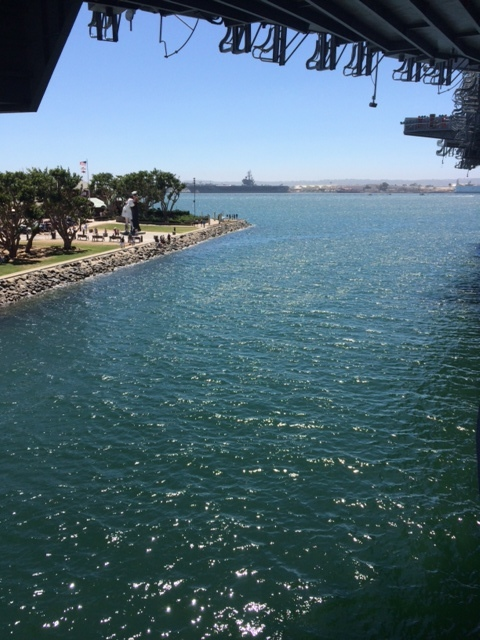Harbor in San Diego, where the USS Midway is located.