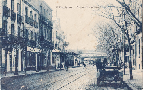 Avenue de la Gare, Perpignan, before 1924