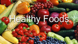 Picture of healthy foods.