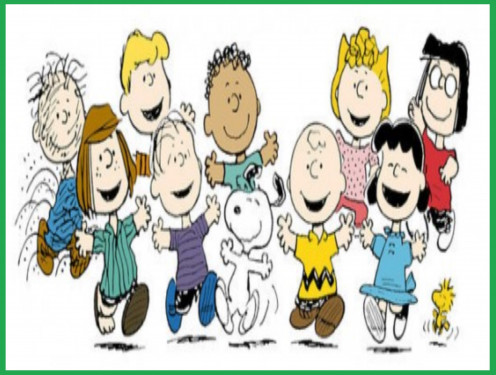 The PEANUTS gang as illustrated by creator Charles M. Schulz.