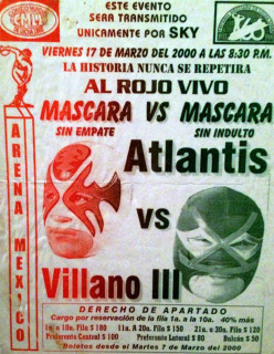 201 Non WWE Matches to See Before You Die #3: Villano III vs. Atlantis