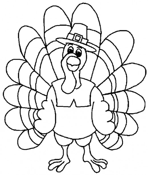 printable turkey coloring page - thanksgiving turkey printable coloring pages hubpages
