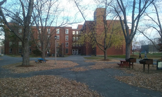 This is the quad on Hilltop on the UMaine Campus.