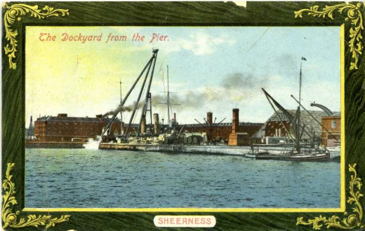 Sheerness Dockyards in the 1920s