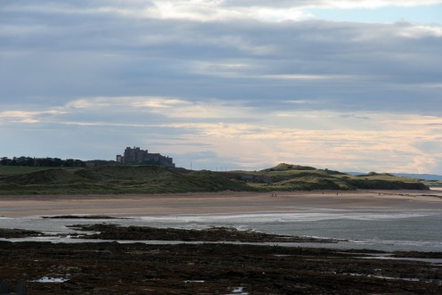 Bamburgh Castle seen from from Seahouses