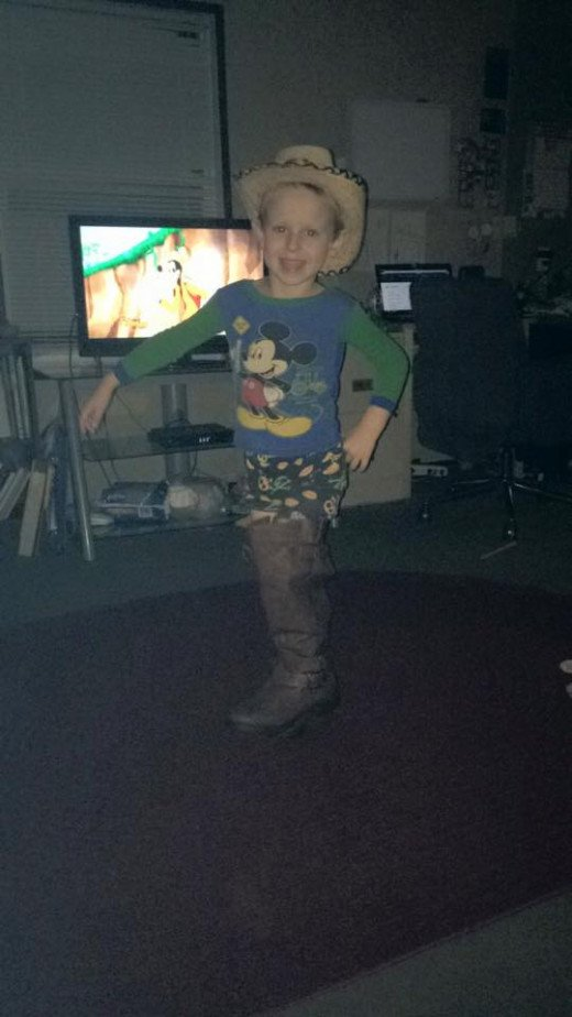 """Hey Mom, I really Iike your boots. Can I have them?"" Ummmmm. No. Lol"