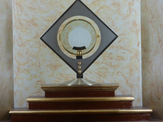 The Blessed Lord in St Francis Adoration Chapel
