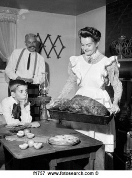 1950's TV probably missed the mark when trying to recreate a turn of the century thanksgiving.